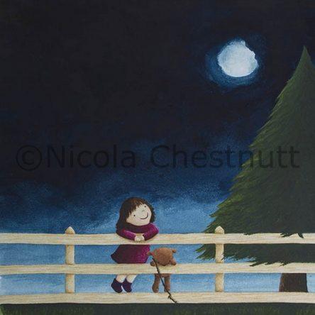 """Little Moon – 8×6"""""""